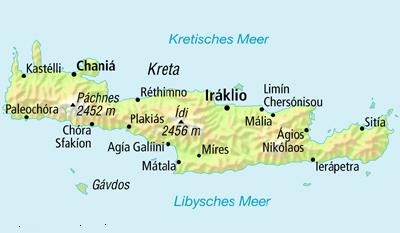 Stalis Kreta Karte